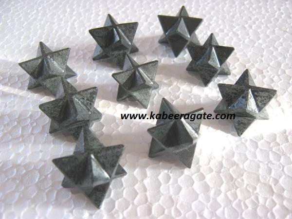 Hematite Merkaba Stars