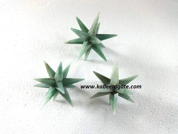 Green Aventurine 12 Point Healing Star