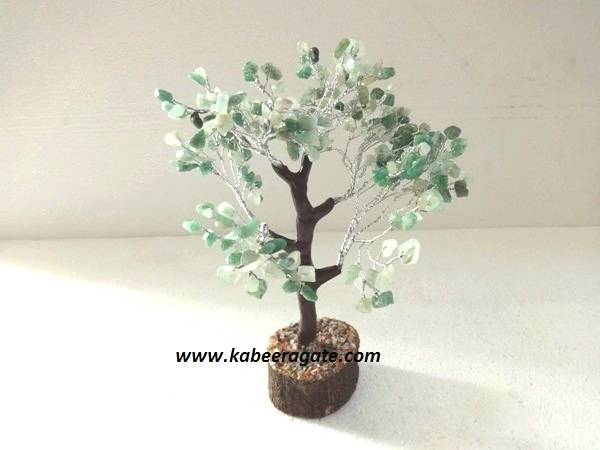 Green Aventurine Tree with Thick Roots