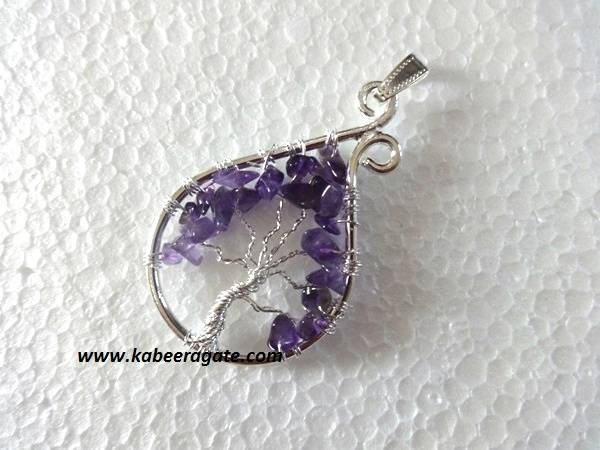 Amethyst Tree Of Life Pendants