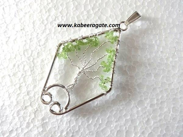 Fish Shape Tree of Life Pendants