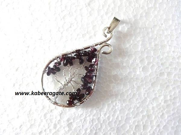 Garnet Tree Of Life Pendants