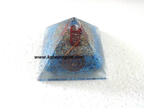 Turquoise Orgone Pyramids With Quartz Points