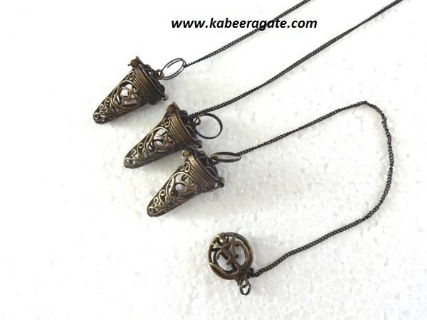 OM Antique Brass Cage Pendulums