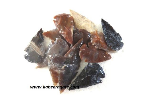 1.5 inch Agate Polished Arrowheads