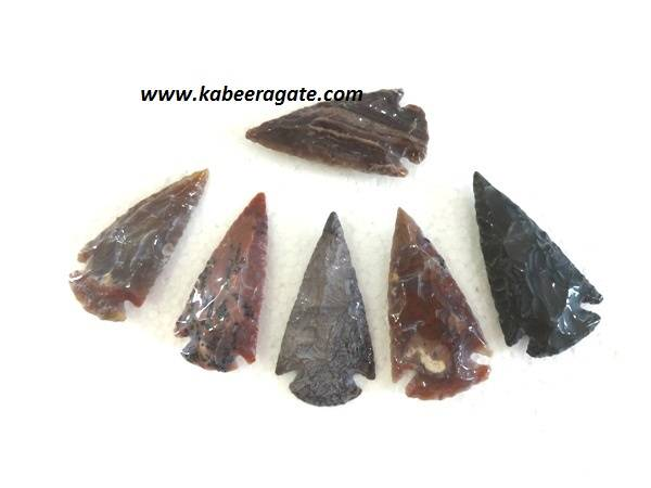 3 Inch Agate Polished Arrowheads