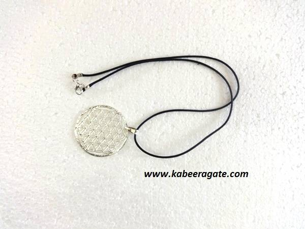 Silver Flower of Life Pendents