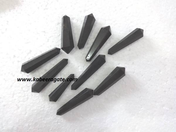 Black Tourmaline Double Terminated Pencil Point