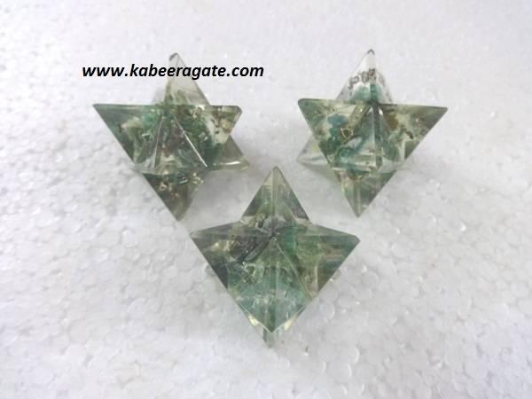 Green Aventurine Orgone Merkaba Star