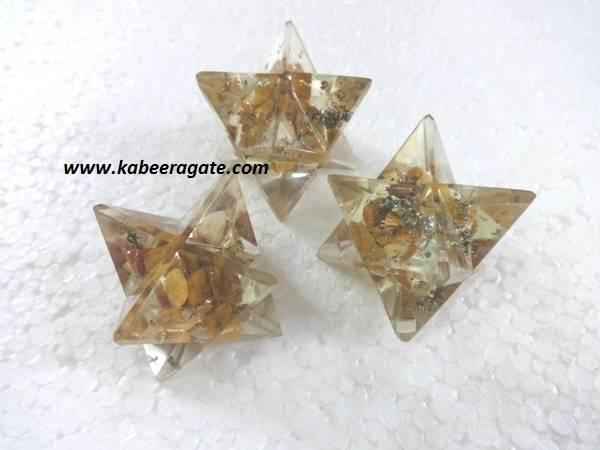 Yellow Aventurine Orgone Merkaba Star