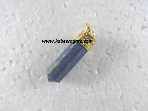 Lapiz Lazuli Pencil Pendents (Golden)