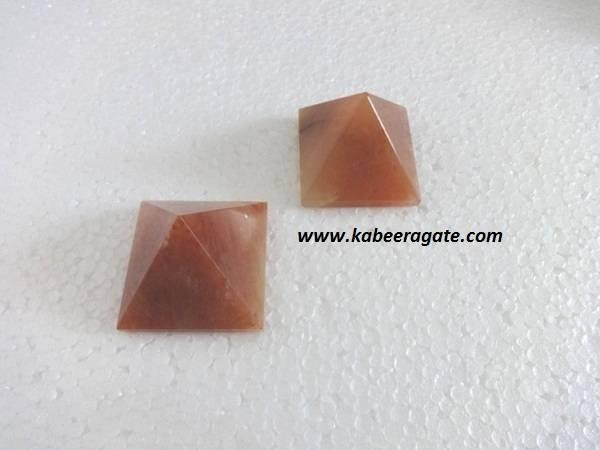 Orange Aventurine Pyramids (Small)