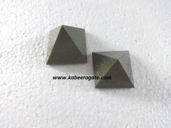 Grass Jasper Pyramids (Small)