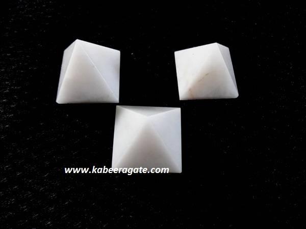 Snow Quartz Pyramids (Small)