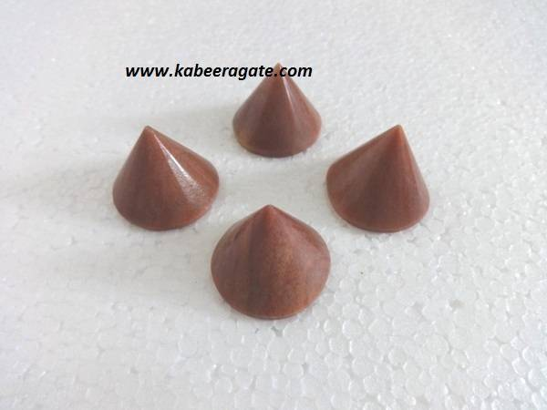 Peach Aventurine Conical Pyramids