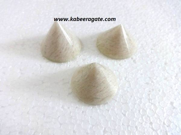 Moonstone Conical Pyramids