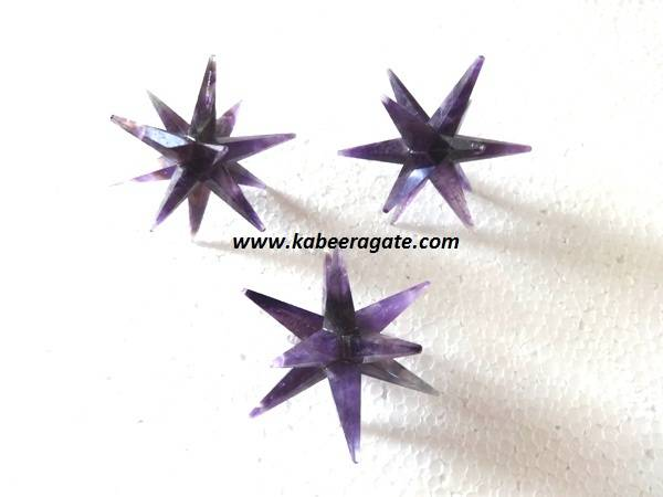 Amethyst 12 Point Healing Star