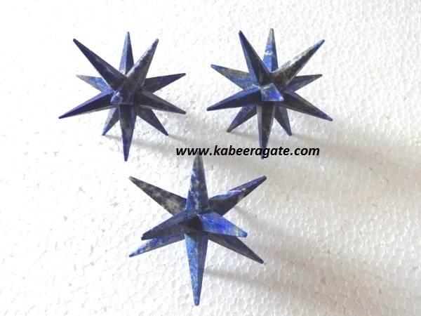 Lapiz Lazuli 12 Point Healing Star
