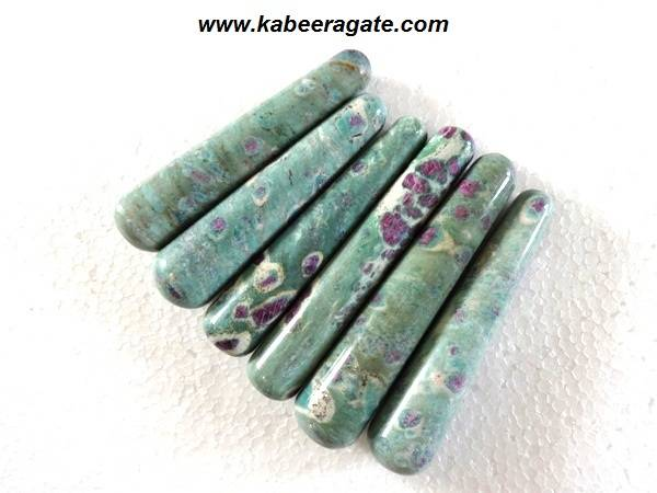 Ruby Fuchsite Smooth Massage Wands