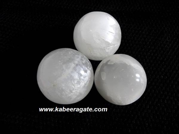 White Selenite Balls