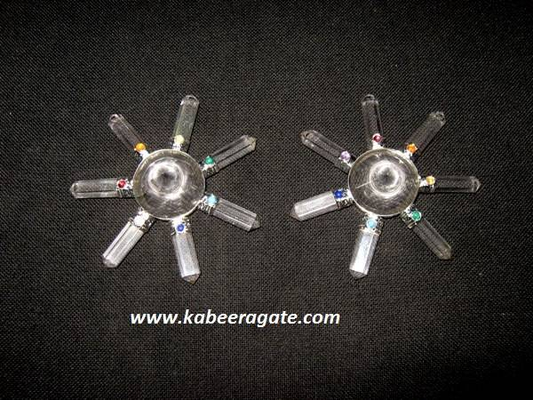 Crystal Quartz Energy Generators with Chakra Cabs