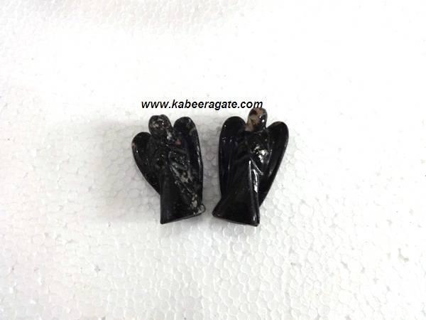 Black Tourmaline Angel 1 inch