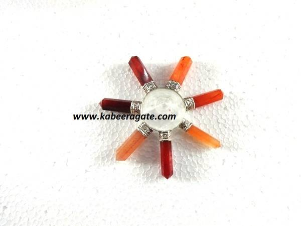 Red Carnelian & Crystal Quartz Combination Energy Generators