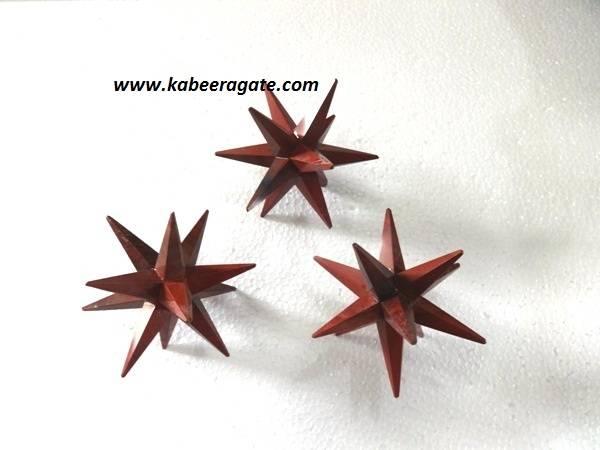 Red Japser 12 Point Healing Star