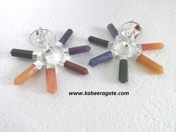 Chakra Energy Generators With Crystal Quartz Star & Conical Pyramid
