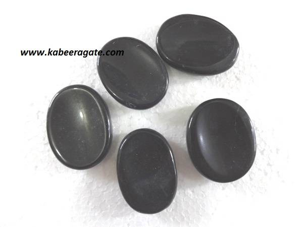 Black Agate Worry Stones